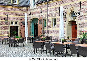 Cafe in the castle Heeswijk. Netherlands