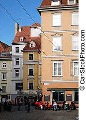 Cafe in the historical city center, Graz