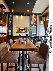 Cafe Interior - Interior of a modern cafe, furniture,...