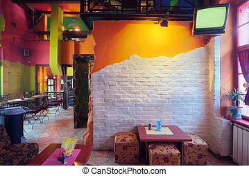 Cafe interior - Interior of modern cafe, mainstream, modern ...