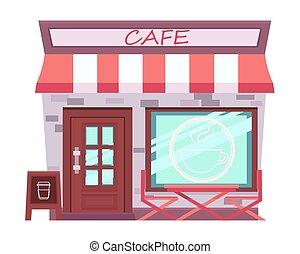 Cafe isolated on white background