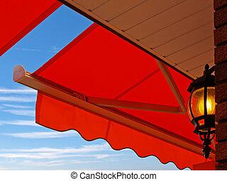 Cafe Light - Light under cafe awning