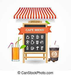 Cafe Menu Concept. Vector