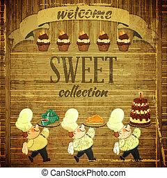 Cafe Menu Retro Design - Cafe Menu Card in Retro style - ...