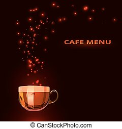 cafe menu with a cup