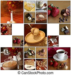 A cafe montage suitable for printing and hanging as one big artwork