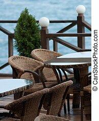 Cafe near sea