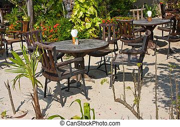 Cafe on the beach , Thailand