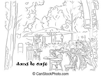 cafe on the Champs-Elysees