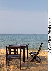cafe on the sandy beach