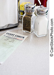 Cafe or Restaurant guest Check