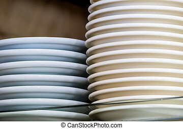 cafe pile of plates, the symbol of gastronomy, leisure,...