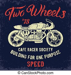 Cafe Racer print design. - Cafe Racer Cociety...