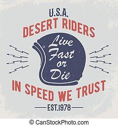 Cafe racer t-shirt print.