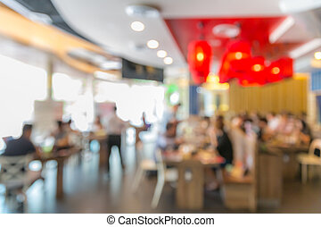 Cafe restaurant blur background