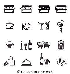 Cafe Restaurant icon set