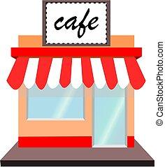 Cafe shop - A cafe shop.vector icon.