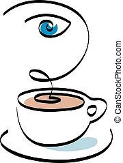 Cafe shop emblem sign icon