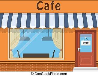Cafe shop exterior.