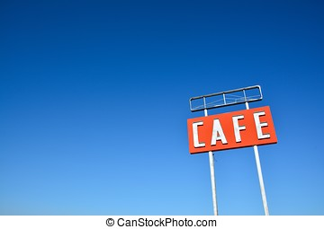Cafe sign in Texas.