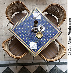 Cafe table. Arabic style.