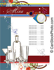 (cafe), vecteur, menu., illustration, restaurant