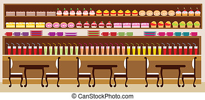 Cafe - Vector illustration. It is created in the Corel Draw ...