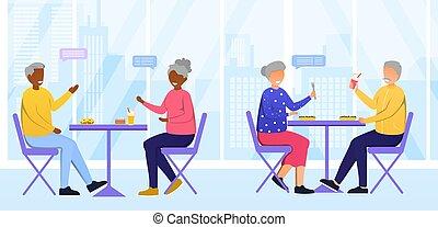 cafeteria, daheim, krankenpflege