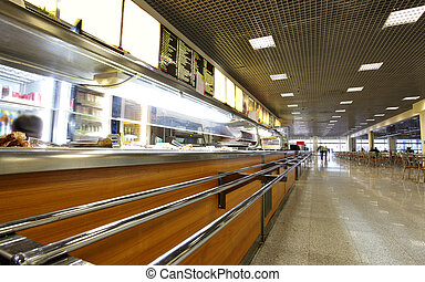 Cafeteria - Interior of the modern dining room