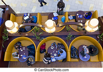 Cafeteria with visitors