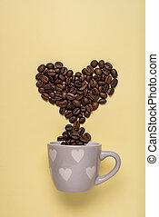caffè, amore, dipendenza, passione
