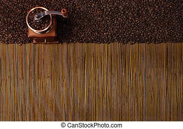 caffè, aromatico, fondo