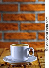 caffè bianco, tazza