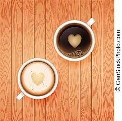 caffè, break., caldo, tazza
