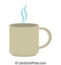 caffè caldo, tazza