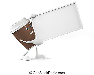 caffè, carattere, tazza