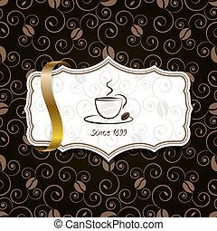 caffè, con, nastro