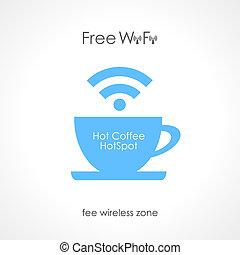 caffè, disegno, internet