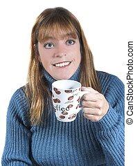 caffè, donna