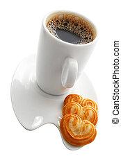 caffè, e, biscotti