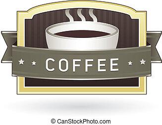 caffè, etichetta prodotto