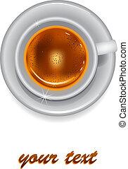 caffè, fondo, tazza