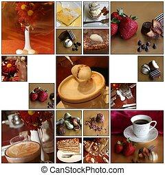 caffè, fotomontaggio