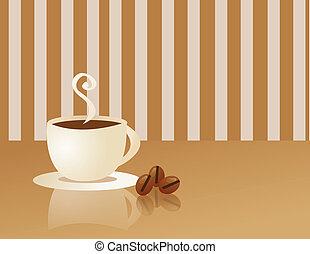 caffè, fumo, tazza