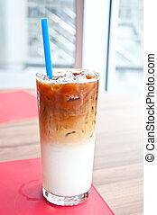 caffè, ghiacciato, latte