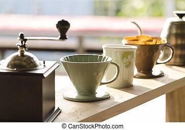 caffè, gocciolamento