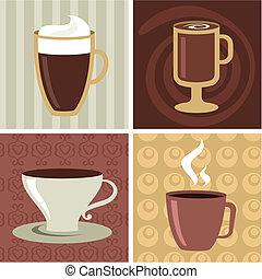 caffè, icone, set, -, 2