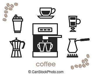 caffè, icone