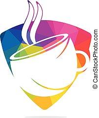 caffè, logotipo, design., vettore, caffè
