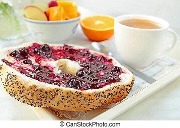 caffè, marmellata, colazione, bread